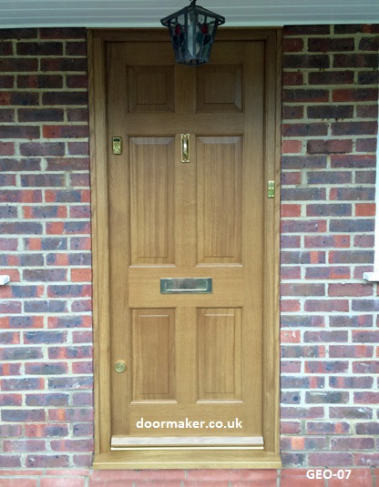 georgian front door european oak