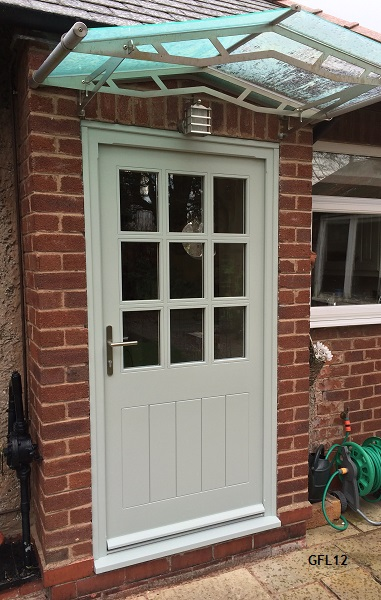 Oak doors glazed framed ledged for Cottage style front doors