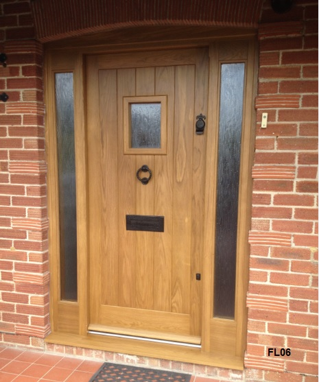 Timber cottage stable door oak cottage doors framed ledged for Solid hardwood front doors