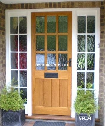 oak doors 9 pane fl & Oak Doors Glazed Framed Ledged