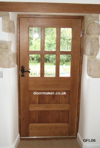 Oak Front Door : Oak doors half glazed