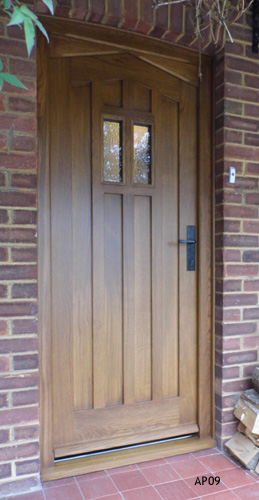 traditional oak door