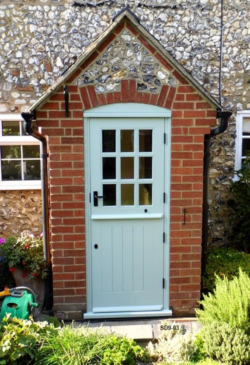 painted 9 pane stable door