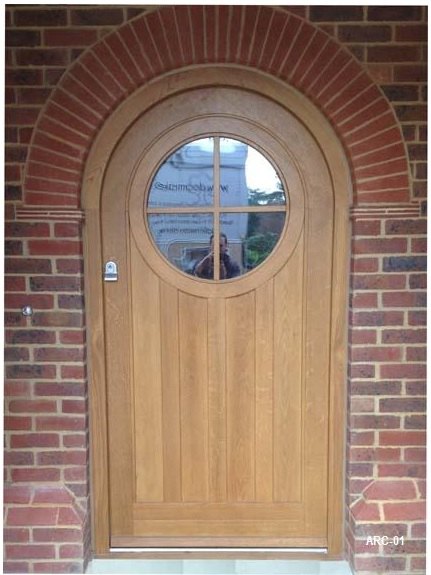Arched Door With Round Vision Panel And Frame Arc 01