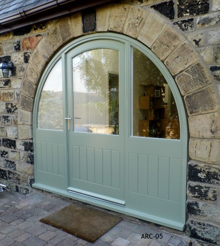Arched Door And Frame With Fully Glazed Sidelights Arc 05