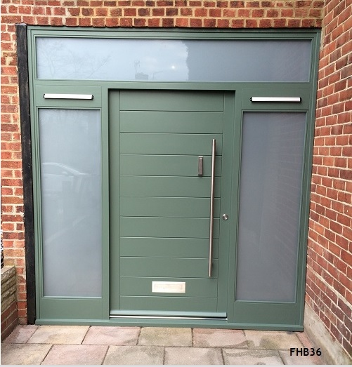 contemporary door green