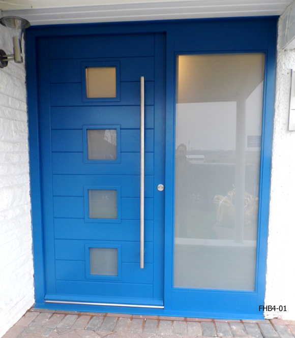 contemporry door capri blue