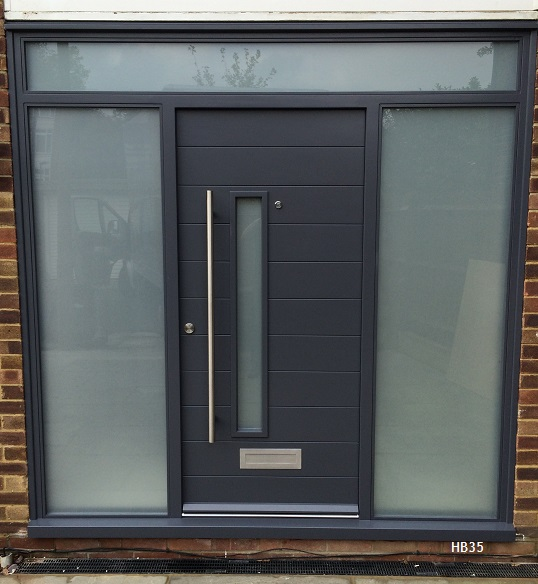 grey contemporary door