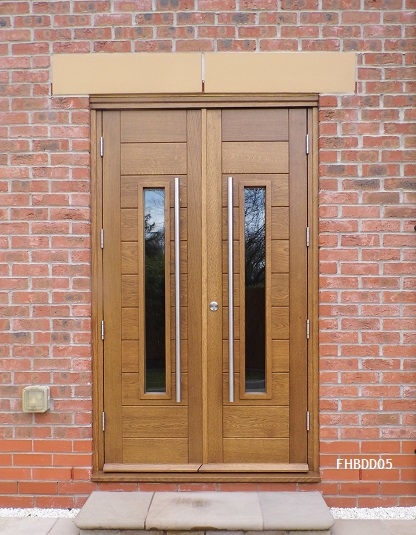 contemporary double doors oak