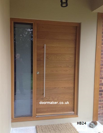 contemporary oak door hb24
