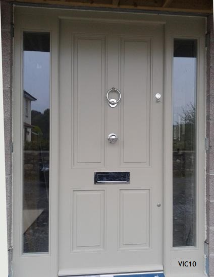four raised and fielded panel door