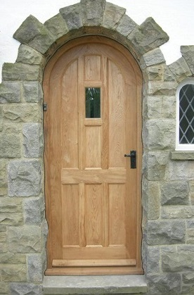 oak doors arched panelled