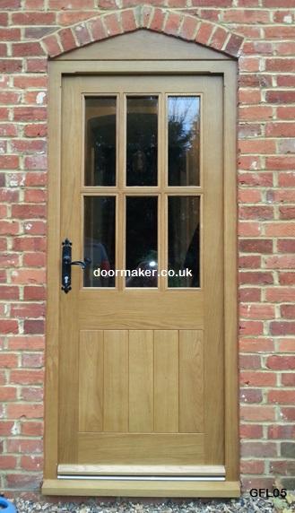 Oak Doors Glazed Framed Ledged
