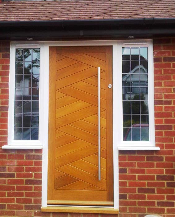 oak herringbone door