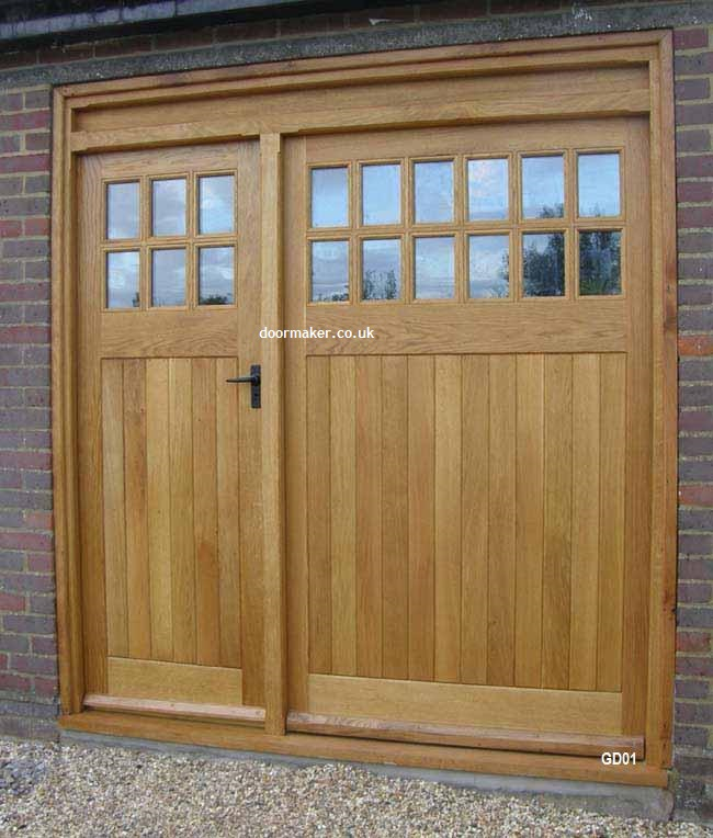 Oak garage doors for European garage doors